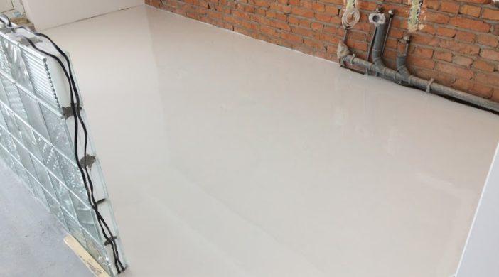 self leveling floor, наливной белый пол