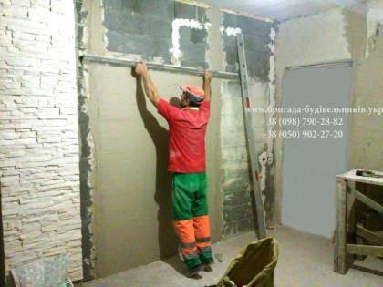 Шпаклевка стен в новостройке в киеве